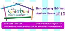 Maternal* Kinderkripee Villa Kunterbunt: Matrícula abierta