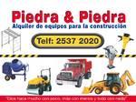 Alquiler equipos construcción